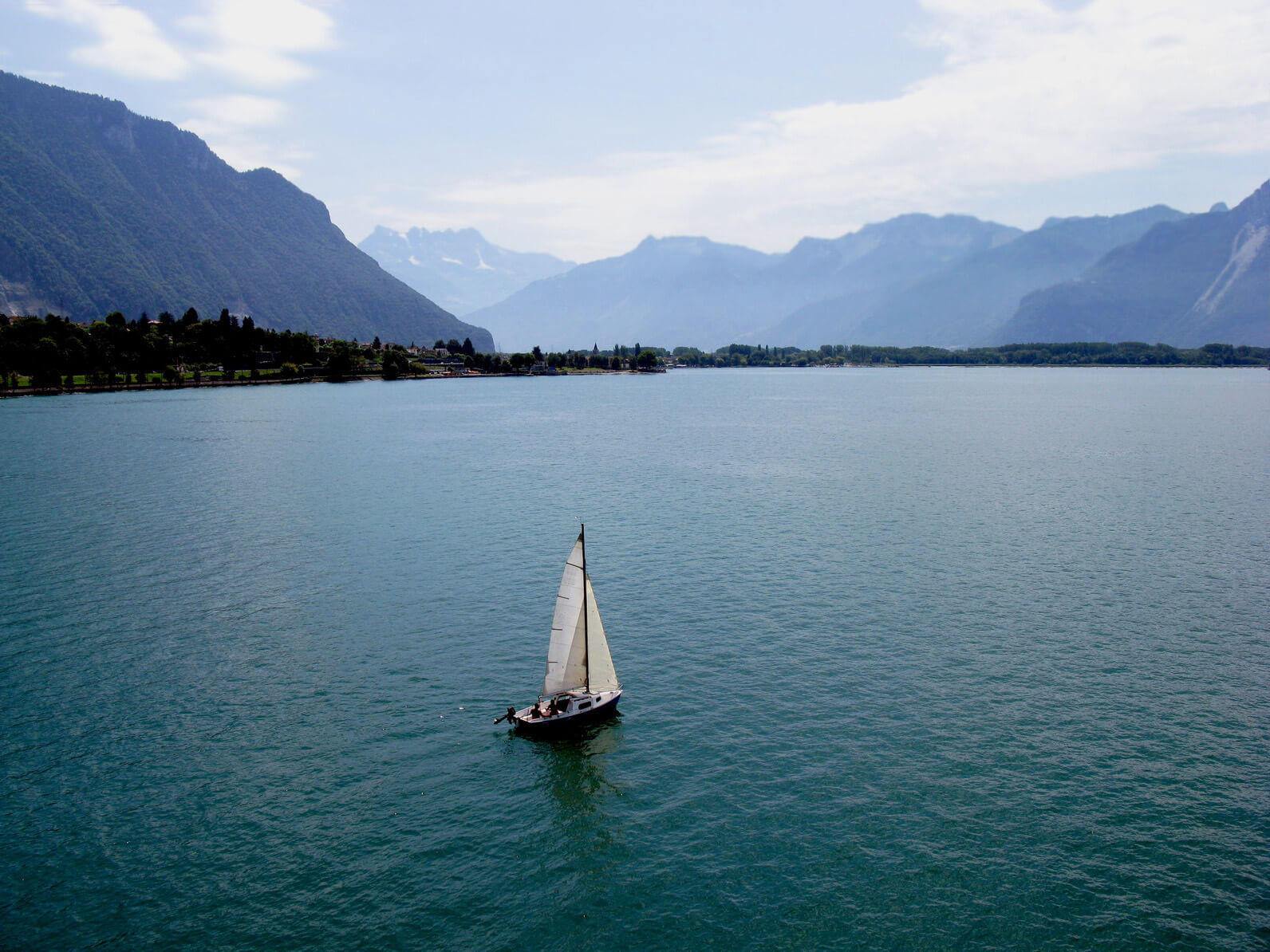 View of Lake Geneva. Montreux. Switzerland.
